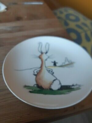 A J & G Meakin Animal Antics Plate Featuring  Rabbit & A Scarecrow • 12£