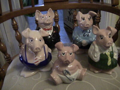 Full Set Of Wade NatWest Piggy Banks With Original Stoppers • 75£