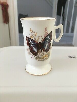 Royal Tara Vintage Butterfly Design Mug VGC • 6£