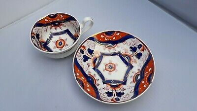 Victorian   Welsh Gaudy    Hand Painted Cup & Saucer. • 5.99£