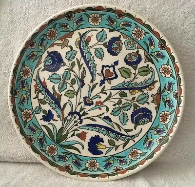 Vintage Continental Large Decorative Pottery Charger • 27.50£