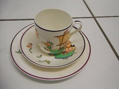 Shelley Mabel Lucy Attwell 1920's Fairies & Mermaids Trio Plate Cup Saucer • 19.99£