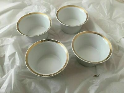 4 Rosenthal Versace Porcelain Bowls Medaillon Meandre D'or - Variety Of Uses New • 179.99£