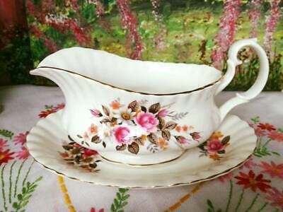 Richmond China Floral Gravy Boat / Serving Jug And Stand • 18£