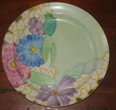 Large Gray's Art Deco Colourful Flowers Charger • 85£