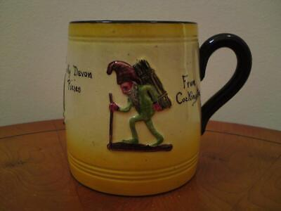 Watcombe Pottery Mug Motto Ware Ghoulies Ghosties Devon Pixie From Cockington • 25£