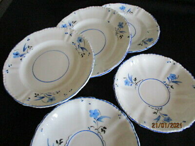 Vintage Cartwright & Edwards Victoria China Blue & White Side Plates & Saucers  • 10.50£