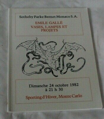 Sothebys Catalogue Emile Galle Vases Lamps & Projets Oct82 Inc Drawings  • 24£