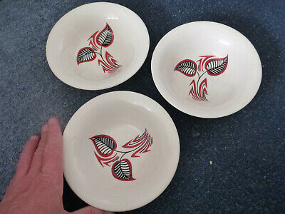 Lovely Vintage Wade Flair 1950s 3 Bowls Fifties Ceramic Ceramics Pottery  • 11.99£