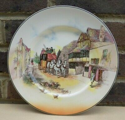 ROYAL DOULTON Old English Coaching Scenes Cabinet Plate D6393 • 11.99£