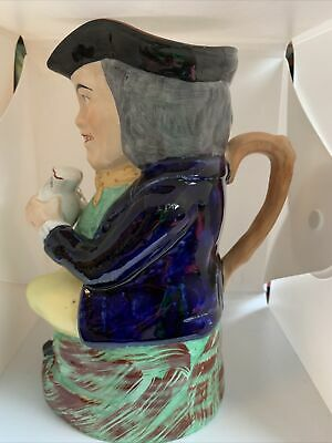 Old Staffordshire Pottery Toby Jug • 39£