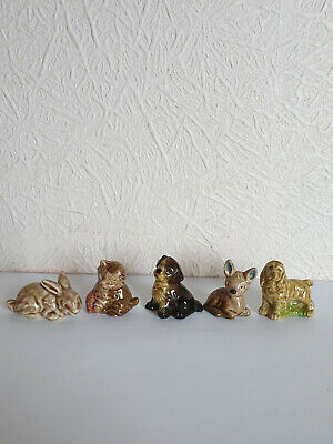 COMPLETE SET Of 5 Vintage Wade WHIMSIES -  Set 1 1971 - EX CON  • 4.95£