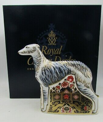 Royal Crown Derby LURCHER Dog Paperweight Imari Limited Edition Mint In Box • 250£