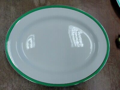 Queens Green Solian Ware Large Serving  Plate 35.5cm • 10£