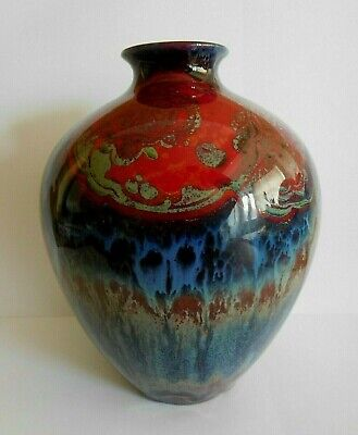 Art Deco Royal Doulton Flambe Sung Vase Signed Noke And F Allen • 295£