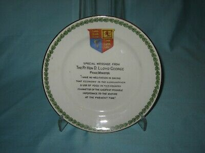 U/M Plate - WW1 'Special Message From The Rt Hon D. Lloyd George Prime Minister' • 8.99£