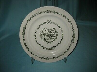 Bisto China Plate- WW1 'Peace Celebration 1919 Presented By Samuel Samuel M.P.'  • 8.99£