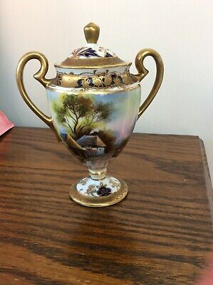 Gorgeous Vintage Noritake Pedestal Urn And Cover Good Condition • 19.99£