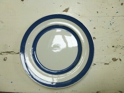 CORNISHWARE TYPE - BLUE AND WHITE LARGE DINNER PLATE TG Green Style • 9£