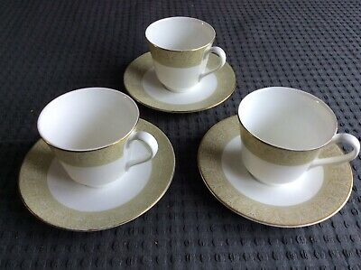 3 X ROYAL DOULTON 'SONNET' Cup And Saucers • 5.98£