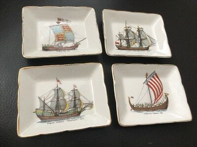Sandland Ware Ships Mayflower, William Conq, Endeavour & English 1300 • 9.99£