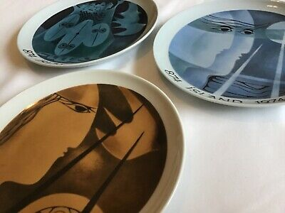 3 Plates: Bing & Grondahl 1974. Collectable. Made In Denmark  • 50£