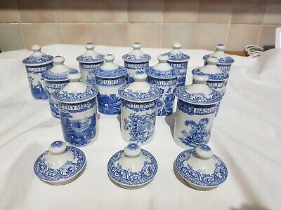 Collection Of 12 Spode Spice Jars • 200£