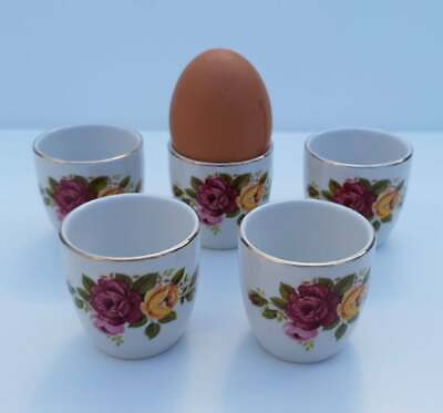 Country Rose Style Egg Cups (5) • 7.99£