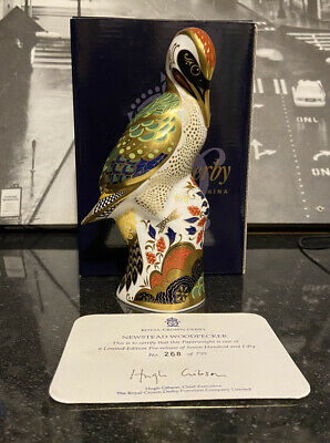 Royal Crown Derby Paperweight Newstead Woodpecker Ltd Ed Cert & Boxed 1st • 89.99£
