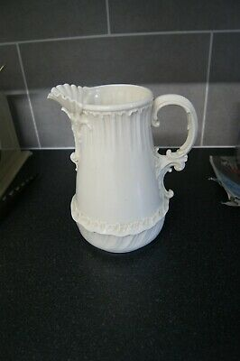 Vintage Ornate White Milk Glass Jug - Af • 1.99£