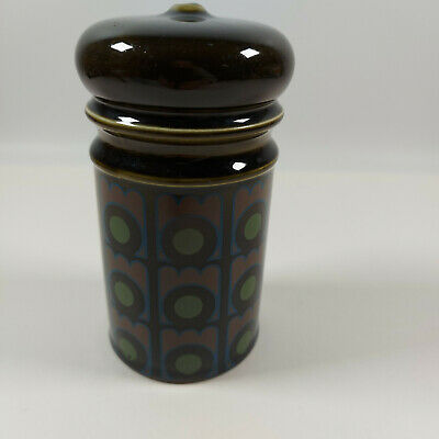 Vintage Retro Arthur Wood Dark Green Geometric Pattern Sugar Shaker • 12.99£