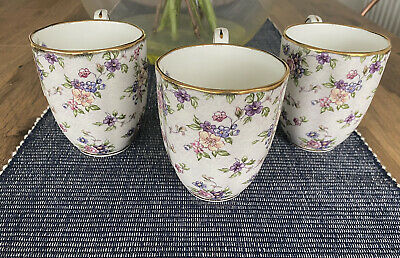 Royal Albert 100 Years 1940's English Chintz Tea Mugs Set Of Three • 40£