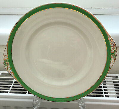 "2 X Queens Green Solian Ware Cake/sandwich Plate 10"" Diameter • 5.50£"