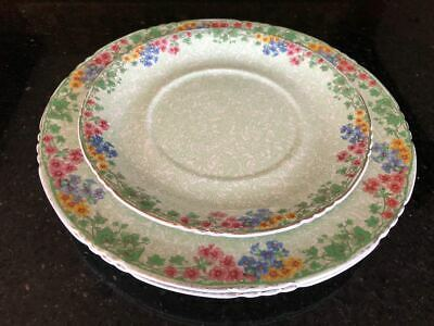 2 Rare Antique John Maddock & Sons Royal Vitreous Plates And 1 Side Plate • 12.50£