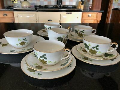 Vintage Windsor Bone China Tea Set -Rare Leaf Pattern • 15£