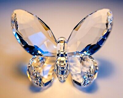 Swarovski Crystal Clear Brilliant Butterfly #840429 New Mint Boxed Retired • 80£