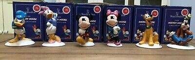 Royal Doulton Micky Mouse Gold 70th Anniversary Collection (6 Figures) • 100£