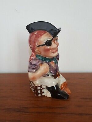 Vintage Staffordshire Pottery Toby Jug Pirate • 10£