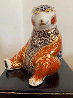 Royal Crown Derby Honey Bear Paperweight, Gold Stopper With Box, Never Displayed • 70£