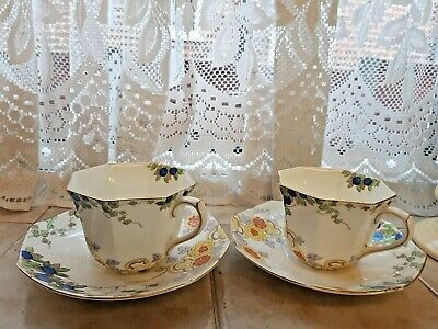 Two Vintage Hand Painted Royal Doulton China Teacups And Saucers  • 7.95£