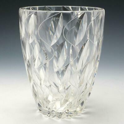Clyne Farquharson For John Walsh Walsh Crystal Vase 8  Tall Signed Barry Pattern • 245£