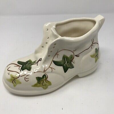Vintage Babbacombe Pottery Handpainted Philip Laureston Ivy Boot Planter • 12£