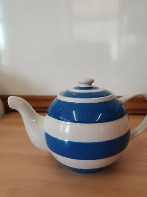 T G Green Cornishware Globe Tea Pot Blue & White • 11.50£