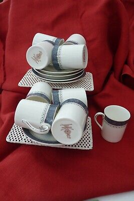 8 X Royal Doulton  Sherbrooke  Coffee Cups And Saucers • 30£