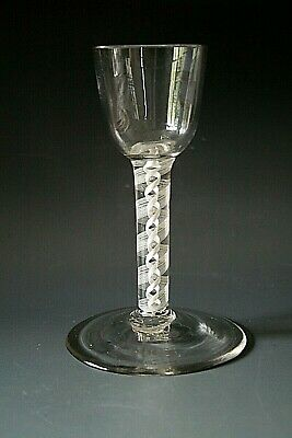 18th Century English Glass With Double Opaque Twist Stem  • 79£