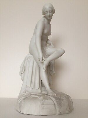 Minton - Copeland Parian Stunning Large Figure Of A Nude Lady Bathing - Perfect! • 375£