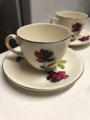 Alfred Meakin Vintage 5 Cups And Saucers • 6£