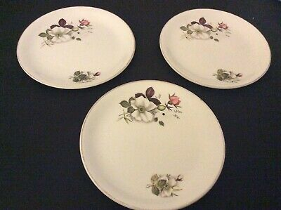 """Alfred Meakin Glo White Ironstone  3 Side Plates 6.3/4"""" Dia. • 3.60£"""