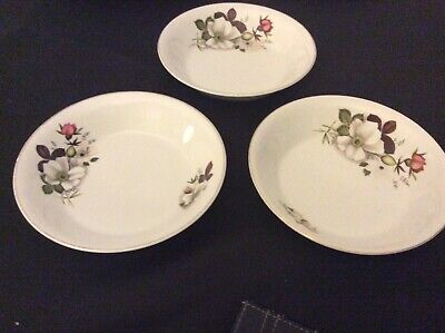 """Alfred Meakin Glo White Ironstone  3 BOWLS 7.1/4"""" Dia. • 3.60£"""