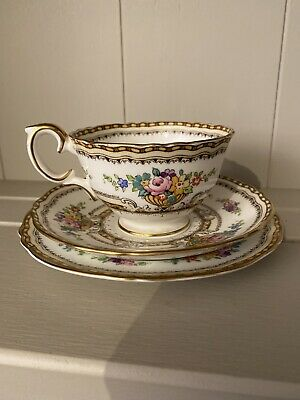 Crown Staffordshire A15304 Cup Saucer And Sideplate • 17.99£